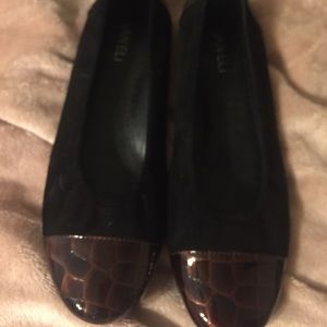 Vaneli Black Suede Loafers size 8.5 M like new